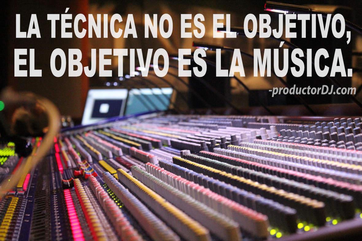 El objetivo es la música.